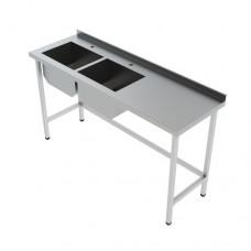Мойка стол из нержавеющей стали с 2-мя раковинами